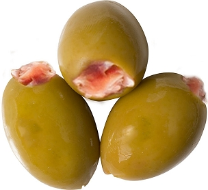 Prosciutto Stuffed Olives